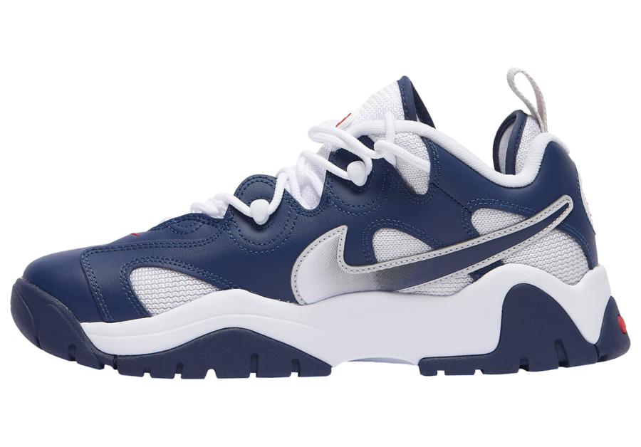 Nike Air Barrage Low Navy White Red CN0060-400 Release Date Info