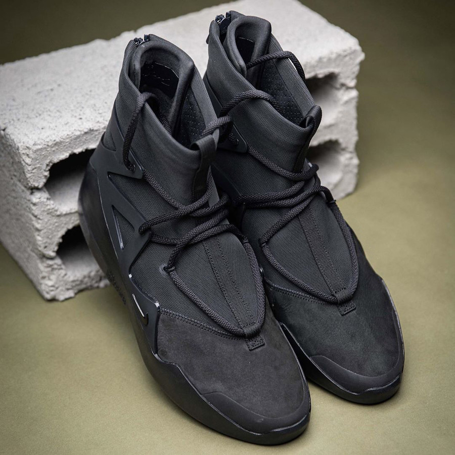 Nike Air Fear of God 1 Triple Black AR4237-005 Release Date