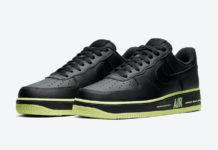 Nike Air Force 1 Low Black Volt CJ1393-003 Release Date Info