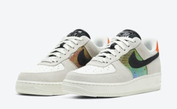 Nike Air Force 1 Low Iridescent Snakeskin CW2657-001 Release Date Info