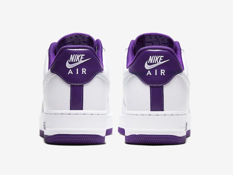 Nike Air Force 1 Low Voltage Purple CJ1380-100 Release Date Info