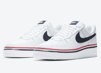 Nike Air Force 1 Low White Blue Red Ribbon CJ1377-100 Release Date Info