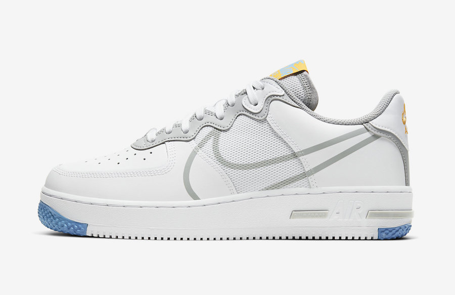 Nike Air Force 1 React Light Smoke Grey CT1020-100 Release Date Info