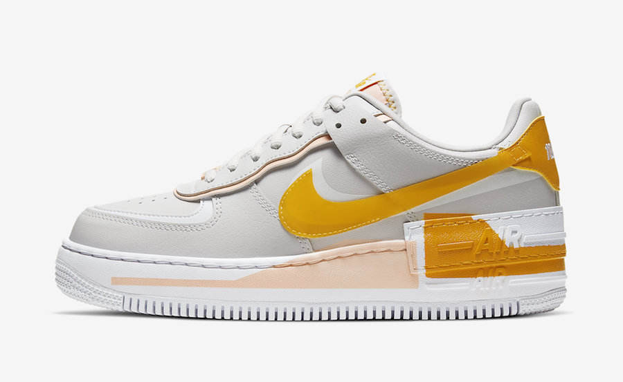 Nike Air Force 1 Shadow Vast Grey Pollen Rise CQ9503-001 Release Date Info