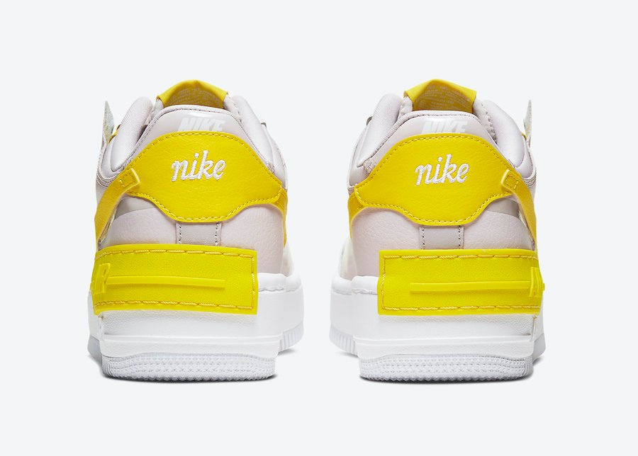 Nike Air Force 1 Shadow White Yellow CJ1641-102 Release Date Info