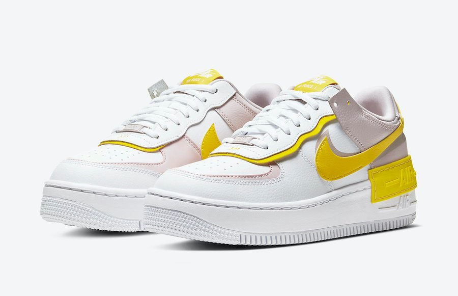 Nike Air Force 1 Shadow White Yellow Cj1641 102 Release Date Info Sneakerfiles The new nike air force 1 comes in yellow/navy, black/white, red/black color schemes and will be available very soon on nike.com and at select retailers. nike air force 1 shadow white yellow