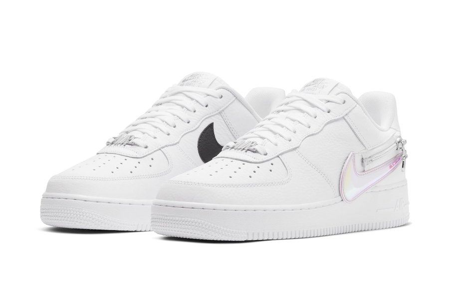 Nike Air Force 1 Zip-On Swoosh White Release Date
