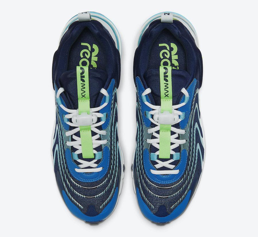 Nike Air Max 270 React ENG Blackened Blue Green Strike CJ0579-400 Release Date Info