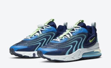 Nike Air Max 270 React ENG Blackened Blue Green Strike CJ0579-400 Release Date Info