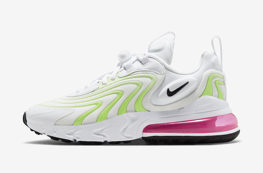 Nike Air Max 270 React ENG White Volt Pink CK2608-100 Release Date Info