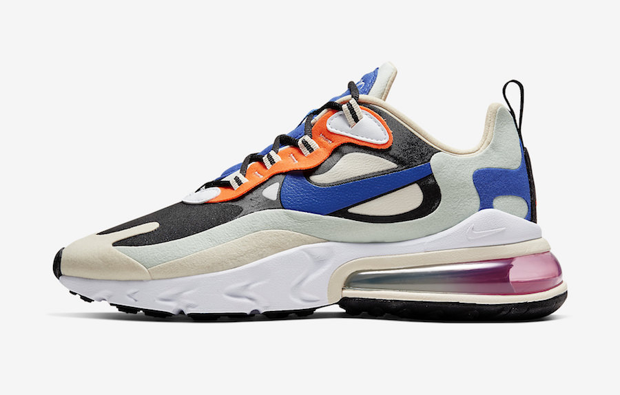 Nike Air Max 270 React Fossil Hyper Royal Pistachio Frost CI3899-200 Release Date Info