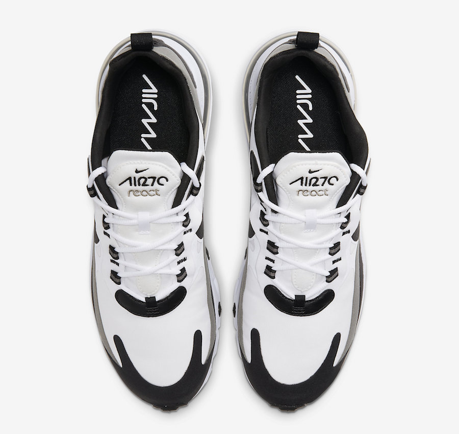 Nike Air Max 270 React White Black CT1264-101 Release Date Info