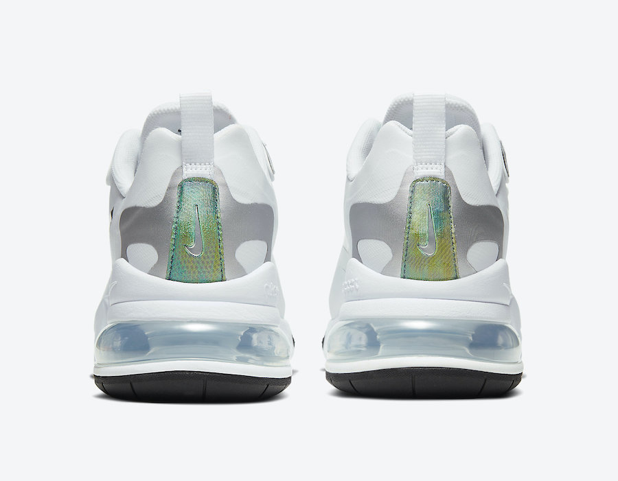 Nike Air Max 270 React White Iridescent CZ7376-100 Release Date Info