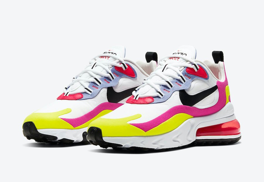 NIKE AIR MAX 270 8 12 BLACK SUNSET TINT PINK CAMO HEEL