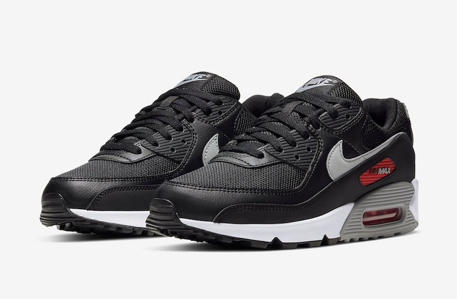 Nike Air Max 90 Black Grey Red White CW7481-002 Release Date Info