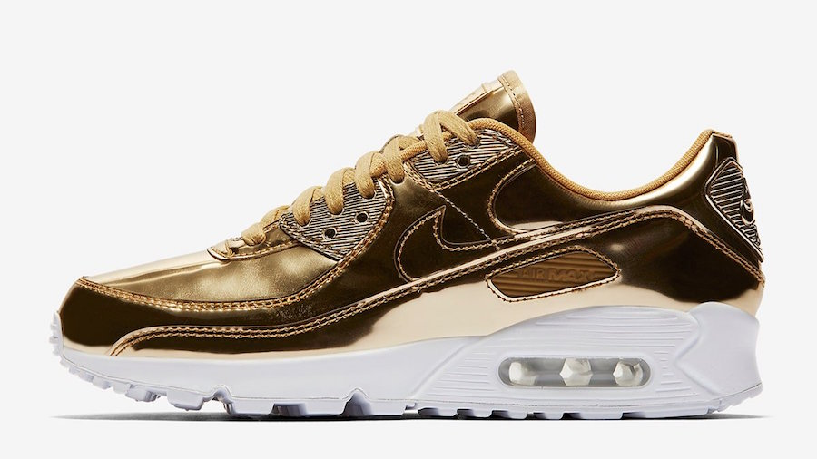Nike Air Max 90 Gold Metallic Pack CQ6639-700 Release Date Info