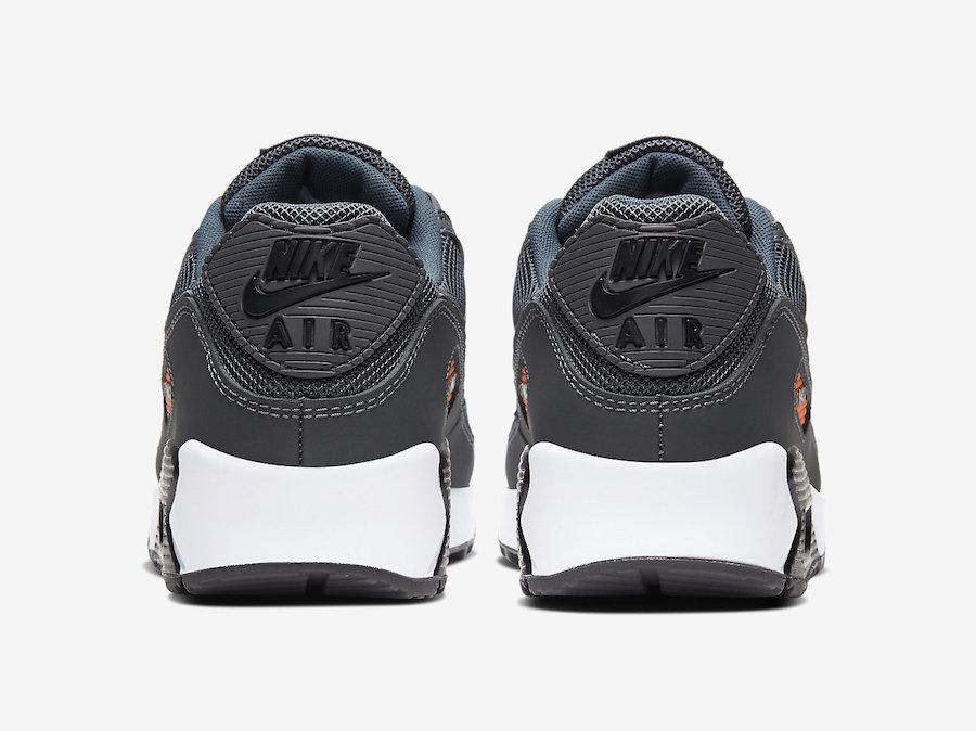 Nike Air Max 90 Grey Orange CW7481-001 Release Date Info