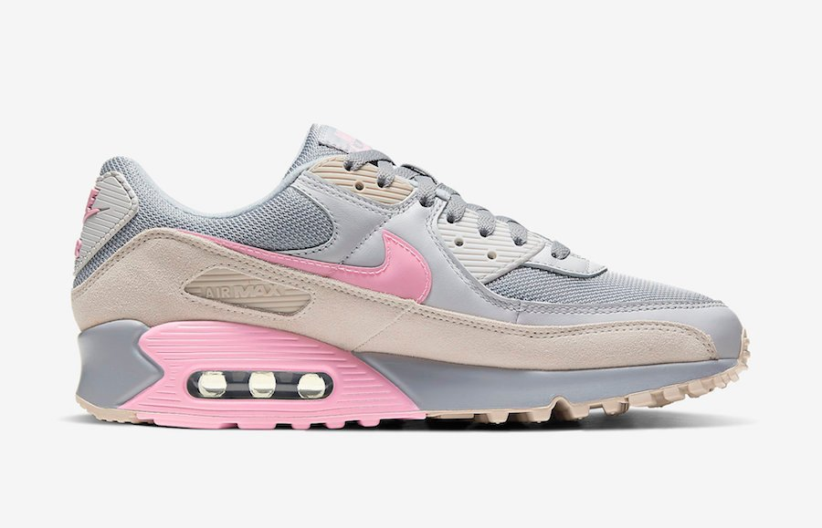 Nike Air Max 90 Grey Pink CW7483-001 Release Date Info