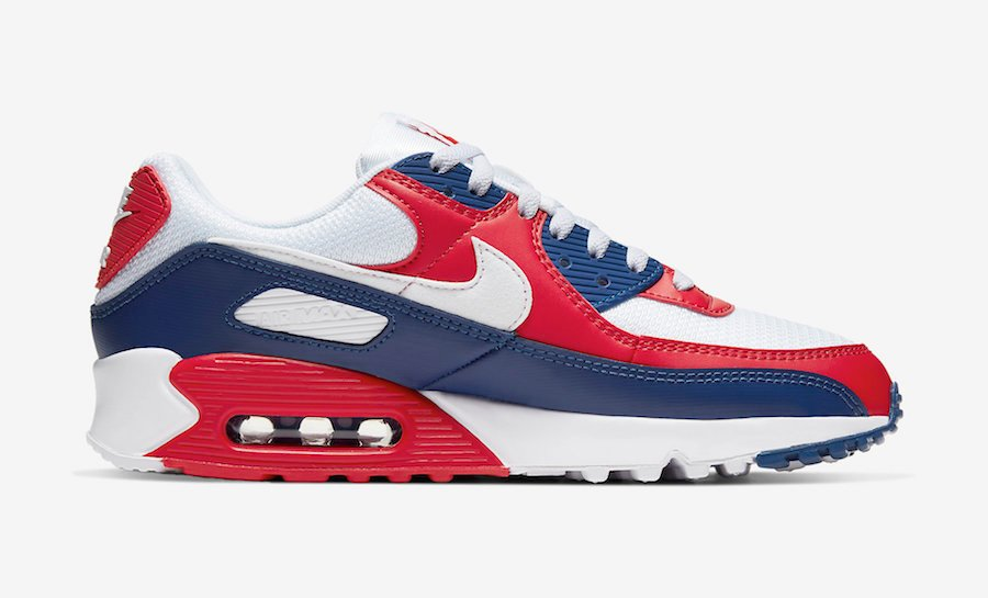navy blue and red air max 90