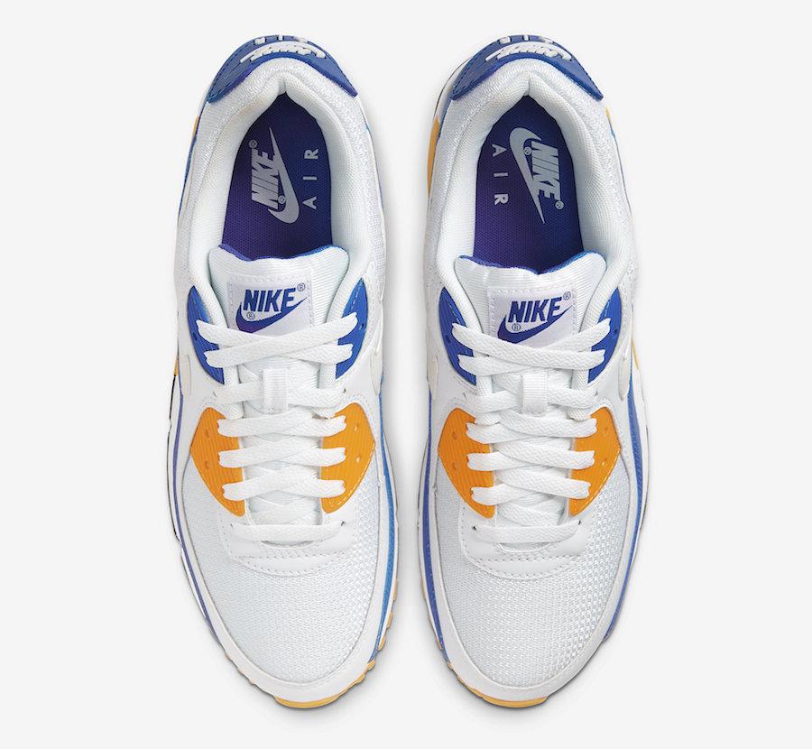 Nike Air Max 90 White Blue Orange CT4352-101 Release Date Info