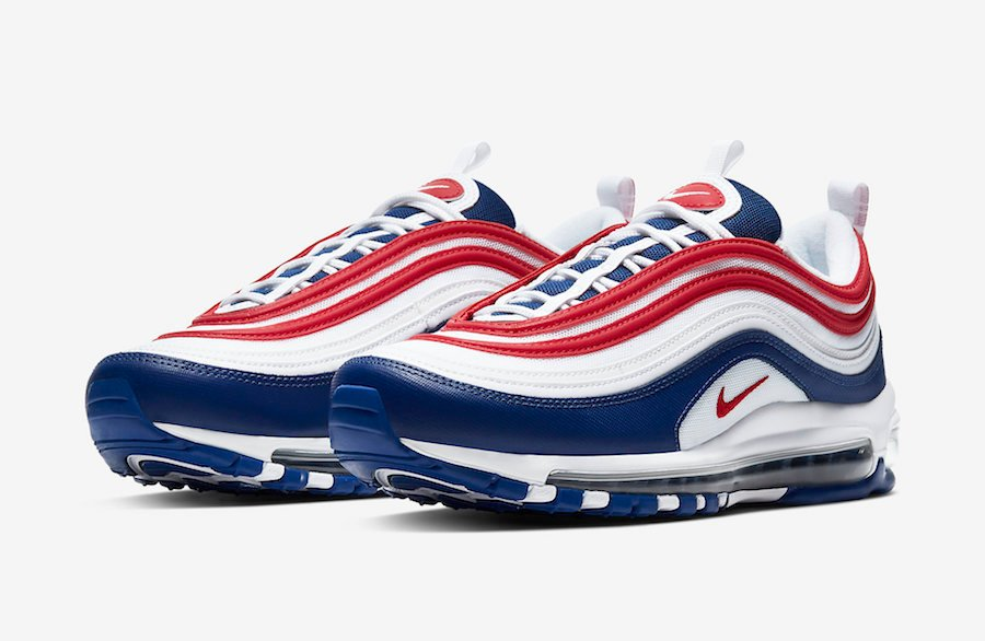Nike Air Max 97 USA White Navy Red CW5584-100 Release Date Info