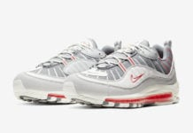 Nike Air Max 98 Grey Sail Habanero Red CJ0592-001 Release Date Info