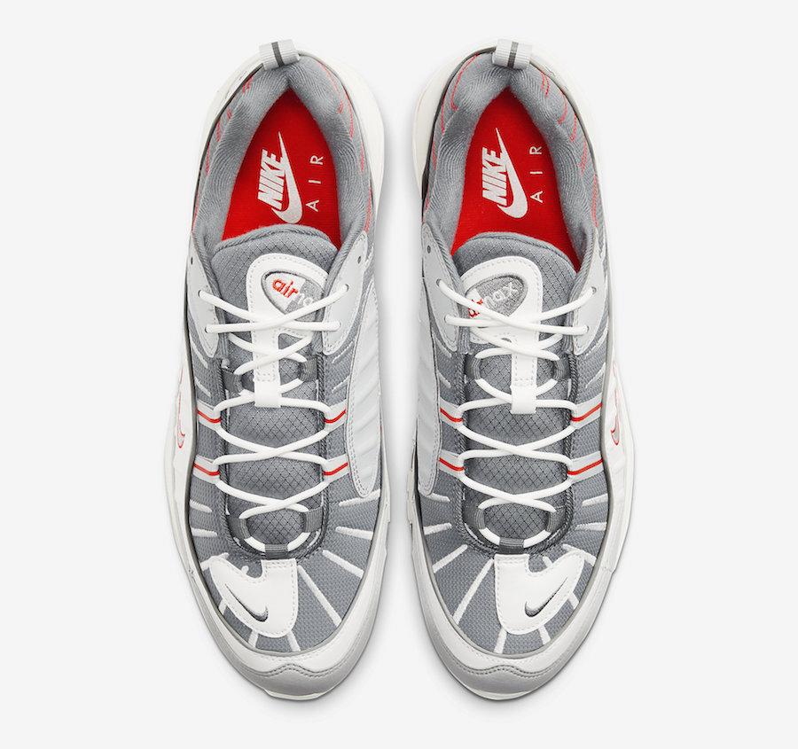 Nike Air Max 98 Grey Sail Habanero Red CJ0592-001 Release Date Info