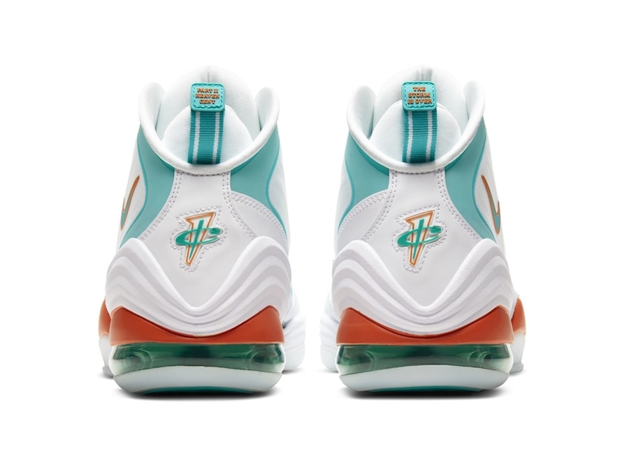 Nike Air Penny 5 V Miami Dolphins White 2020 Release Date Info