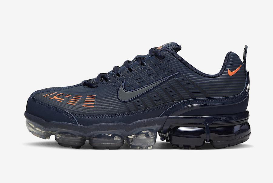 Nike Air VaporMax 360 Obsidian Total Orange CW7480-400 Release Date Info