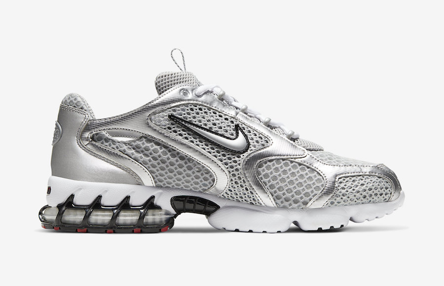 Nike Air Zoom Spiridon Caged Metallic Silver CJ1288-001 Release Date Info
