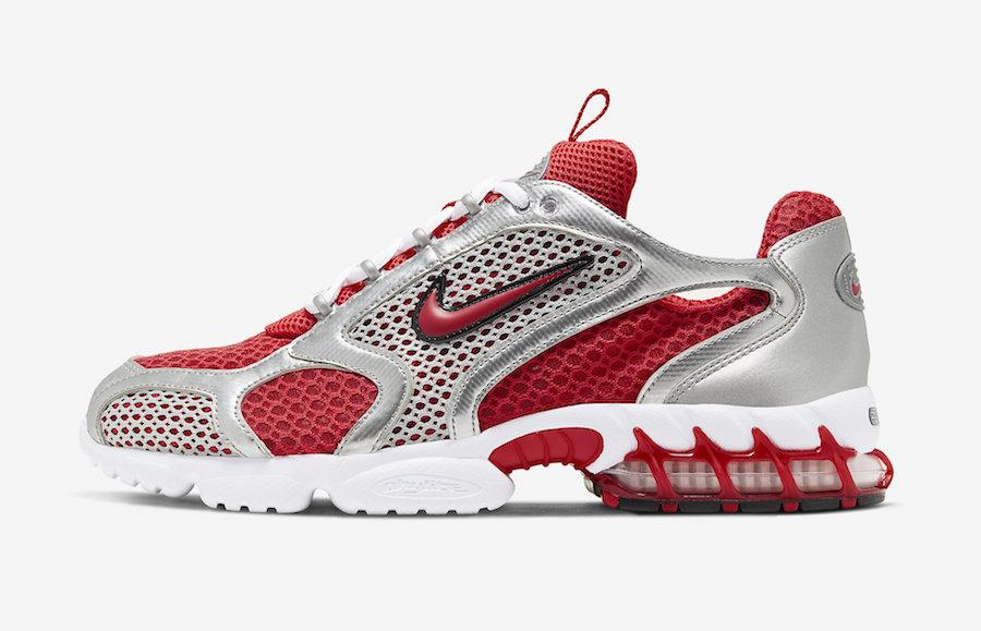 Nike Air Zoom Spiridon Caged Varsity Red CJ1288-600 Release Date Info