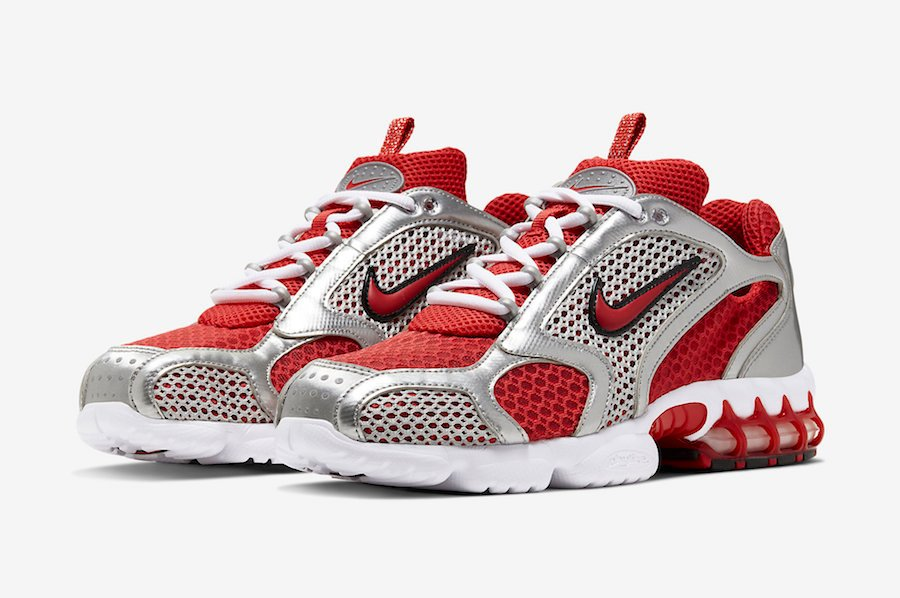 Nike Air Zoom Spiridon Caged 'Varsity Red' Official Images