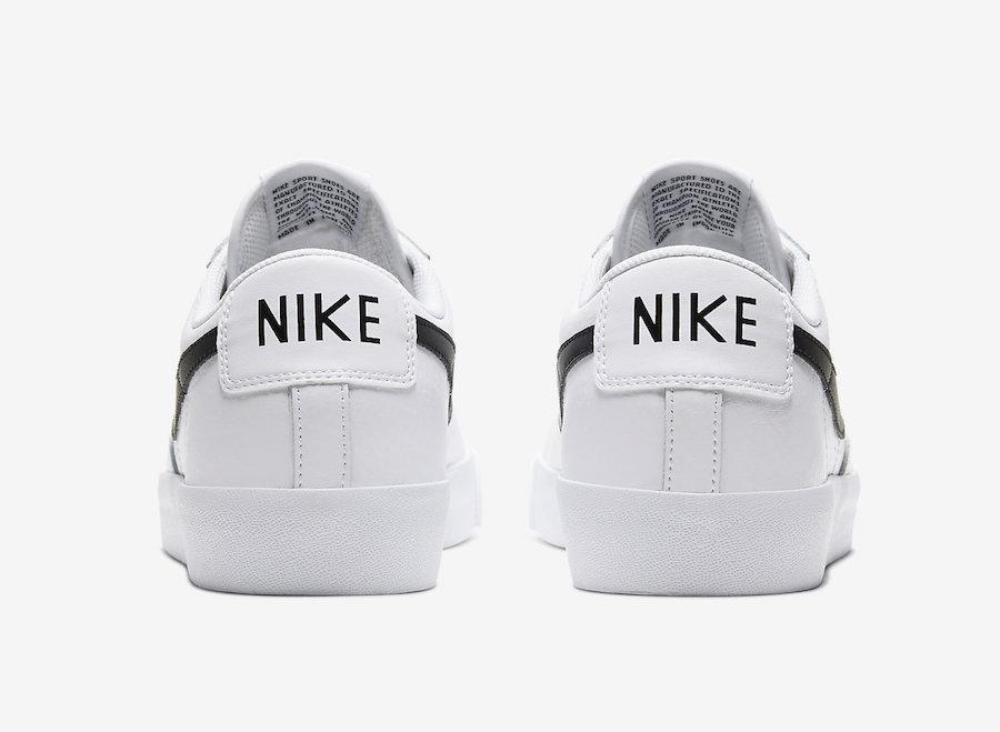 Nike Blazer Low Leather White Black CZ1089-100 Release Date Info