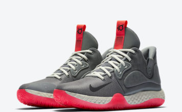 Nike KD Trey 5 VII Smoke Grey Laser Crimson AT1200-004 Release Date Info