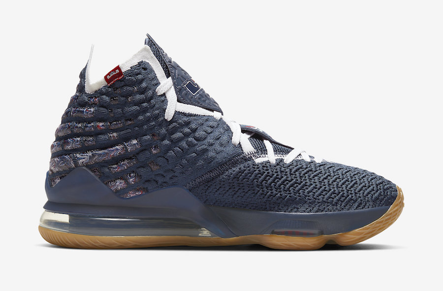 Nike LeBron 17 College Navy Gum CD5056-400 Release Date Info