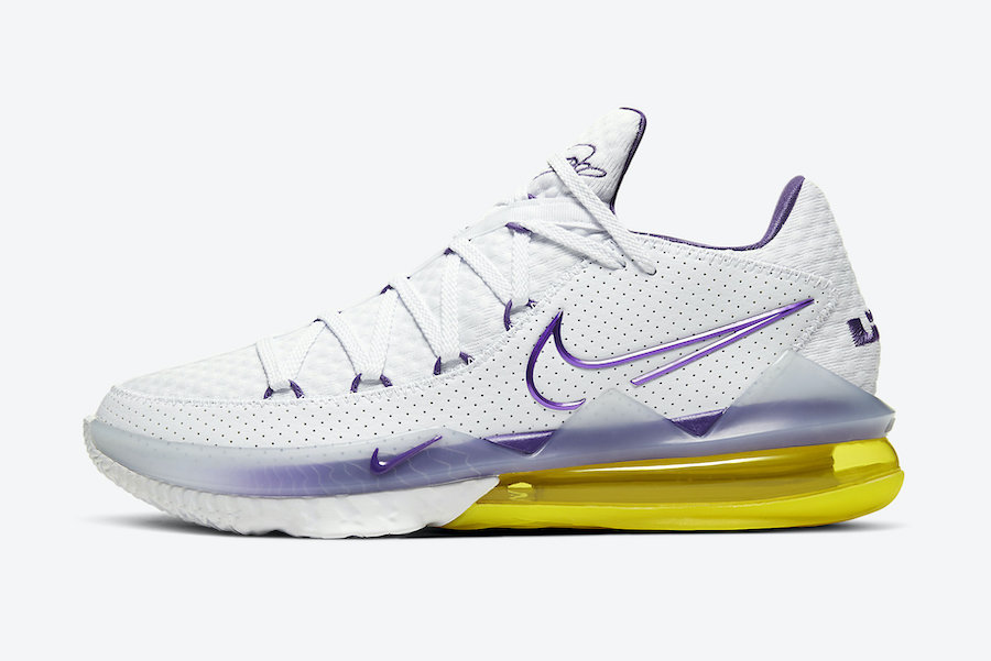 Nike LeBron 17 Low Lakers Home CD5007-102 Release Date