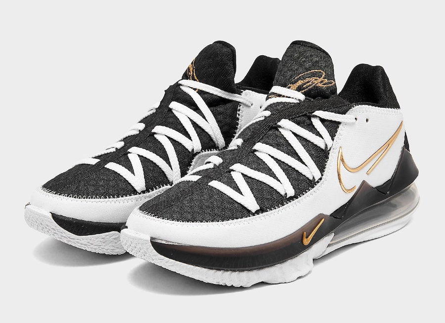 Nike LeBron 17 Low White Black Metallic Gold CD5007-101 Release Date