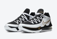 Nike LeBron 17 Low White Black Metallic Gold CD5007-101 Release Info