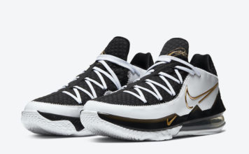 Nike LeBron 17 Low White Black Metallic Gold CD5007-101 Release Info