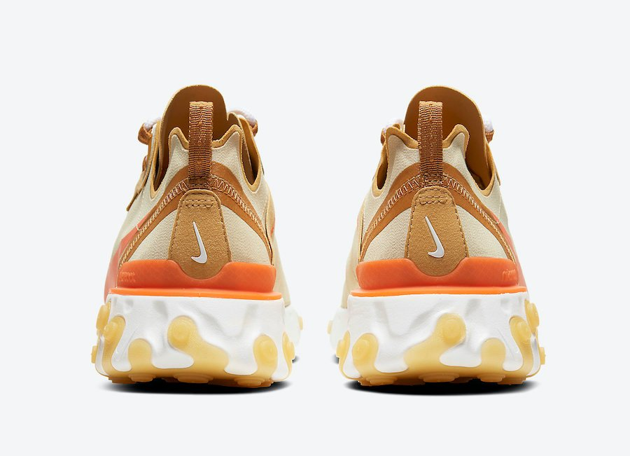 Nike React Element 55 Team Gold Bright Orange CZ3595-781 Release Date Info