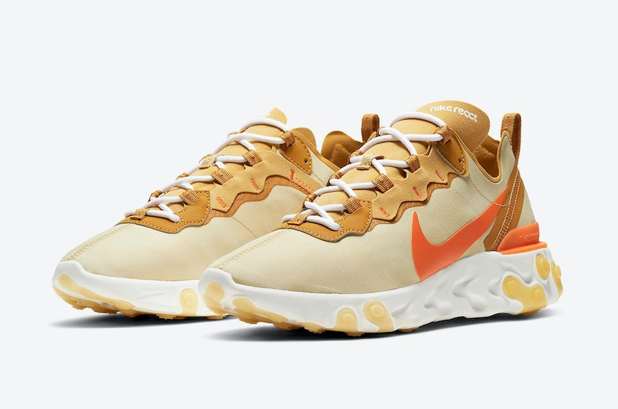 Nike Nike Air Max 270 React Running Shoes White Yellow Black Violet from Champs Sports | People