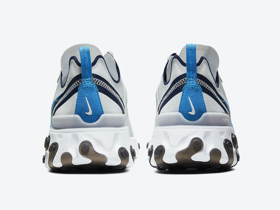 Nike React Element 55 Vast Grey Clear Blue CZ3595-041 Release Date Info