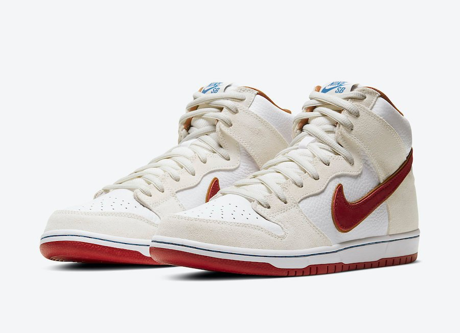 Nike SB Dunk High Sail Team Crimson CV9499-100 Release Date