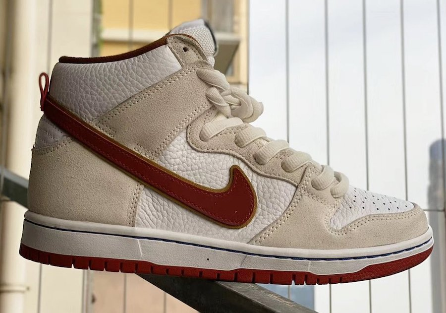 Nike SB Dunk High Sail Team Crimson CV9499-100 Release Date Info