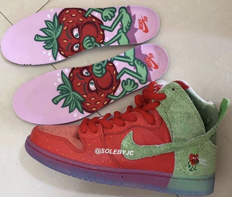 Nike SB Dunk High Strawberry Cough Release Date Info