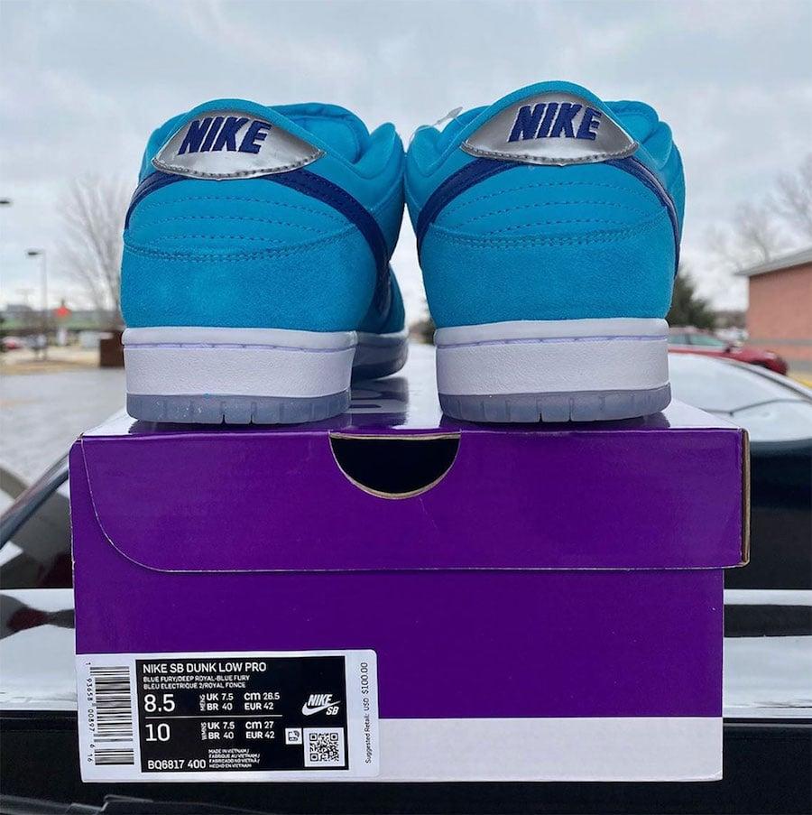 Nike SB Dunk Low Blue Furry BQ6817-400 Release Date Info
