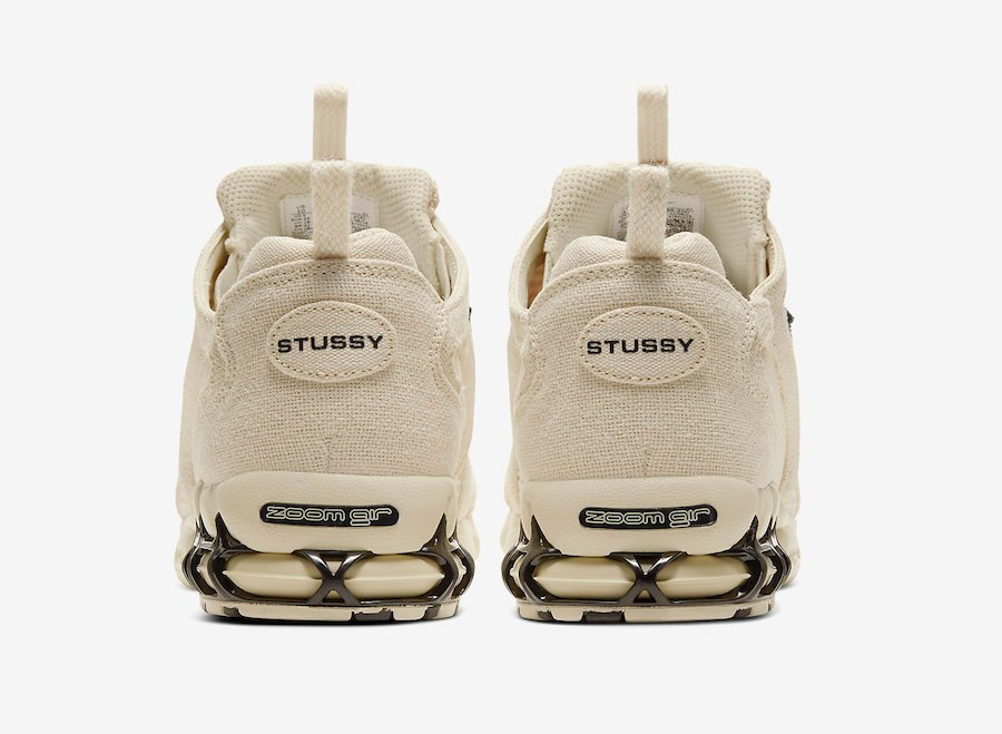 Stussy Nike Air Zoom Spiridon Caged Fossil CQ5486-200 Release Date