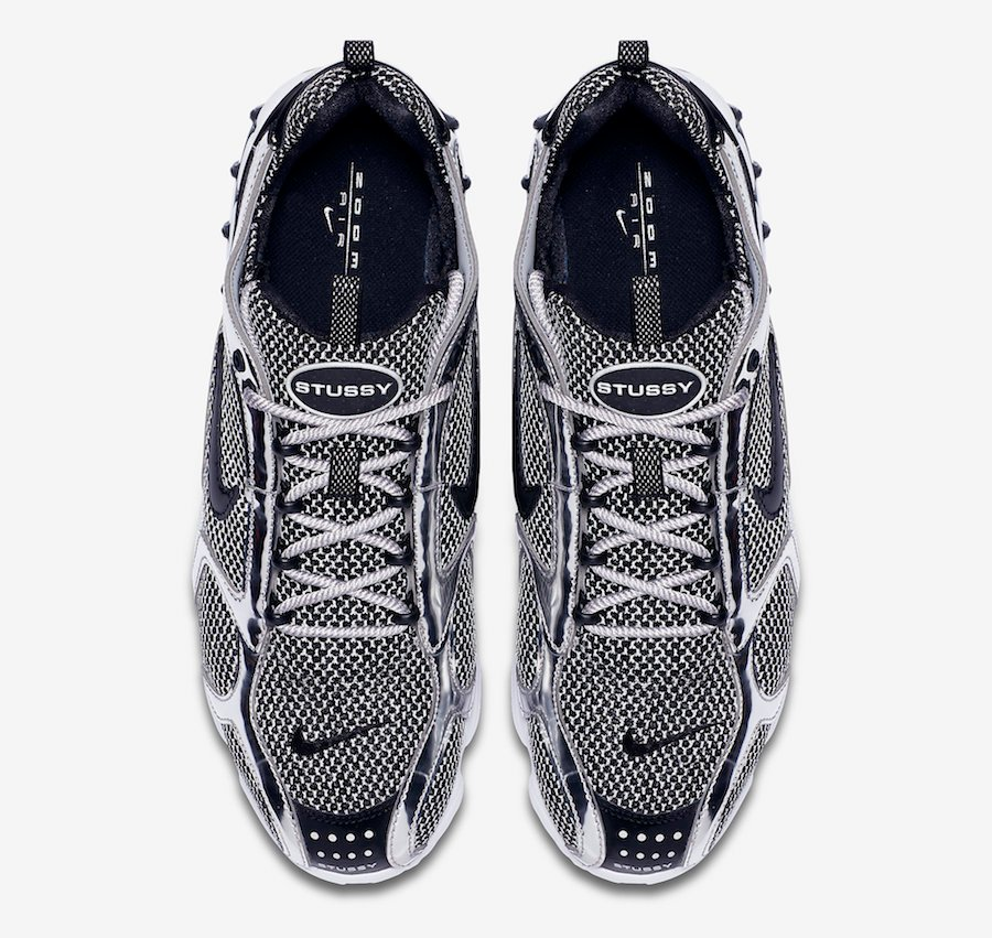 Stussy Nike Air Zoom Spiridon Caged Pure Platinum CQ5486-200 Release Date