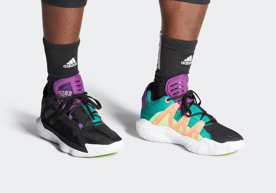 adidas Dame 6 Black Purple Teal EH2071 Release Date Info
