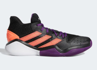 adidas Harden Stepback Black Purple Coral EF9889 Release Date Info